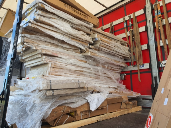 Main image of the offer Large amounts of chipboard from the furniture