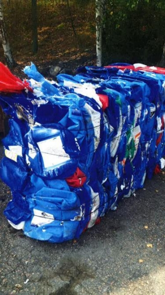 Image 1 offer Cleaned, blue HDPE canisters