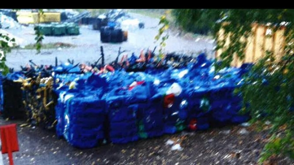 Image 2 offer Cleaned, blue HDPE canisters